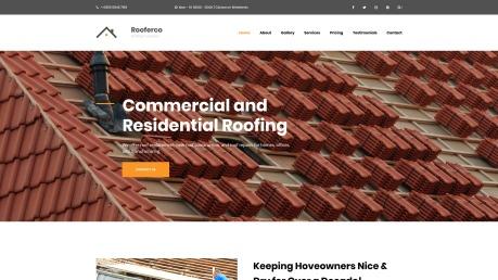 Roofing Website Design - Rooferco - image