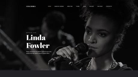 Artist Website Design - Chachira - image