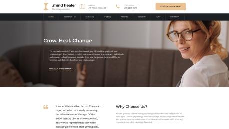Doctor Website Design - Mind Healer - image