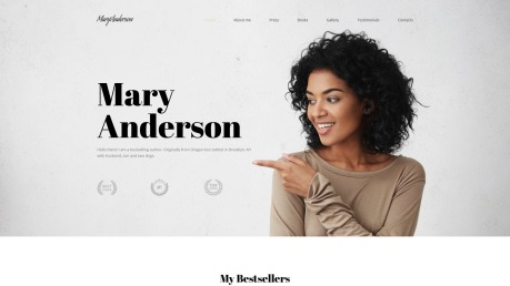 Author Website Design - Mary Anderson - image