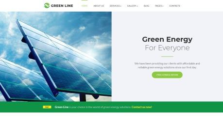 Renewable Energy Website Design - Green Line - image