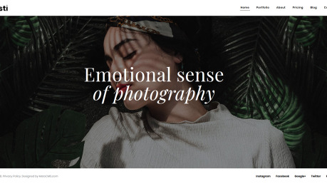 Photography Website Design - Oristi - image