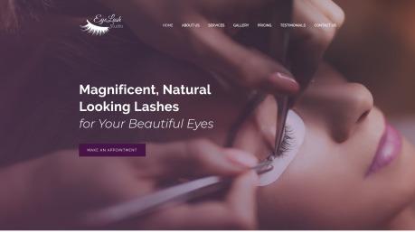 Beauty Salon Website Design - Eyelasher - image