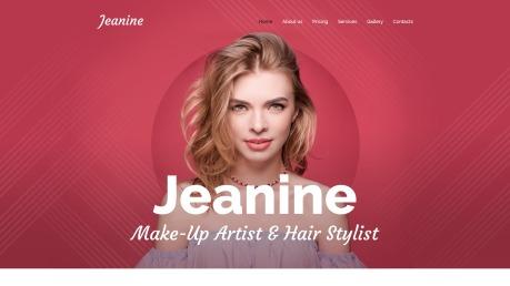 Makeup Artist Website Design - Jeanine - image