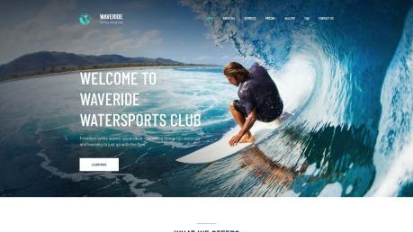 Surfing Website Design - Waveride - image