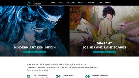 Art Gallery Website Design - Canvas - image