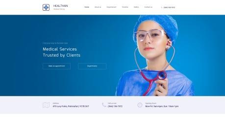 Medical Clinic Website Design - Healthan - image