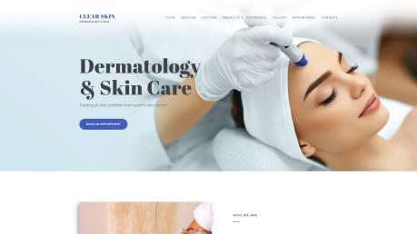 Dermatology Website Design - Clear Skin - image