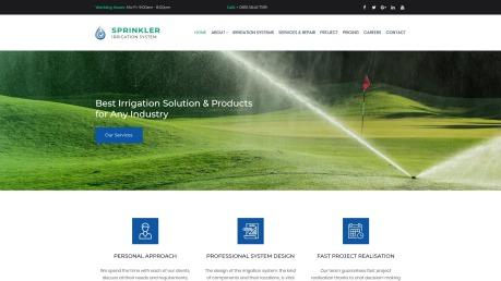 Irrigation Website Design for Sprinkler and Water Systems - image