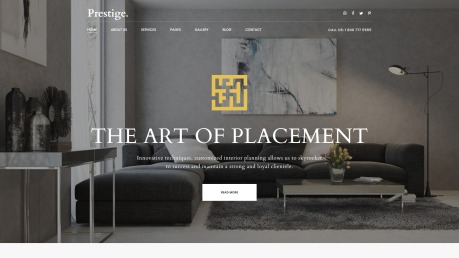 Interior Design Website Template for Studios and Architects - image