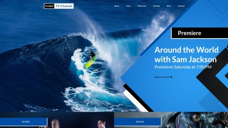 TV Channel Website Template - image