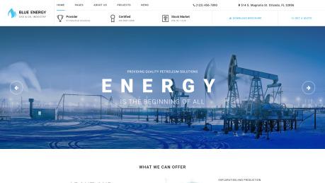 Oil Gas Website Design - Blue Energy - image