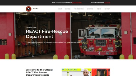 Fire Department Website Design - React - image
