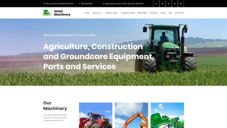 Tractor Website Design - image
