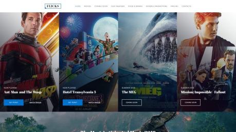 Cinema Website Design - Flicks - image