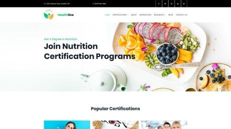 Nutrition Website Design - Healthline - image
