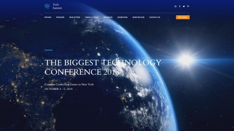Conference Website Design - Tech Summit - image