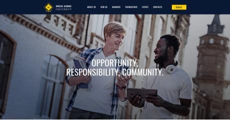 Fraternity Website Design - Omega Gamma - image