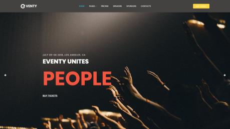 Event Website Design - Eventy - image