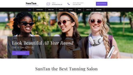 Tanning Salon Web Design - SunTan - image
