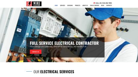 Electricity Website Design - image