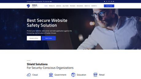 Cyber Security Web Design - Shield - image