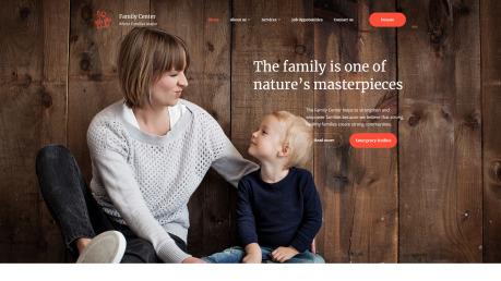 Family Center Website Design - image