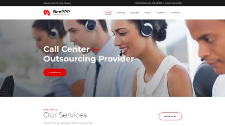 Call Center Website Design - image