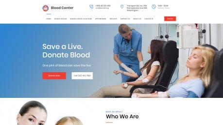 Blood Bank Website Design - image