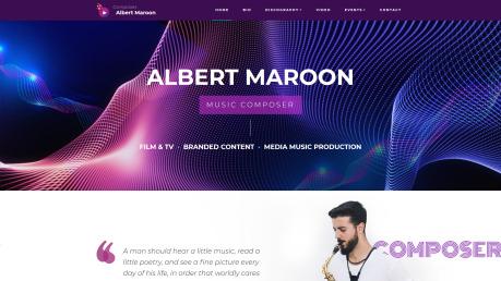 Music Composer Website Design - image