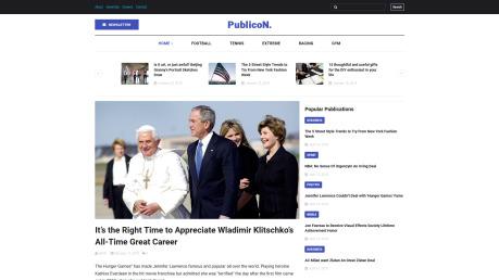 Newspaper Website Design - Publicon - image