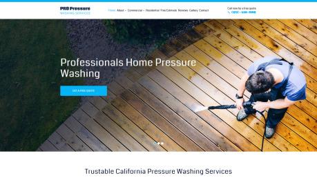 Pressure Washing Website Design - image