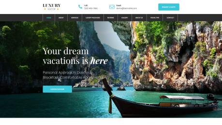 Travel Agent Website Design - image
