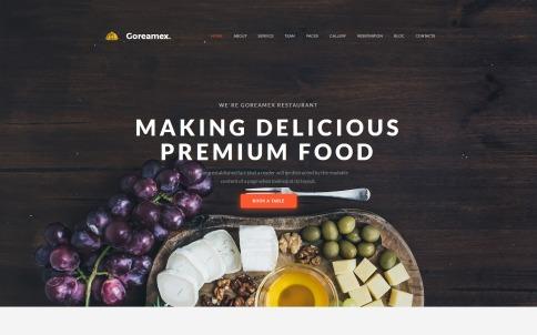 Restaurant Website Design - Goreamex