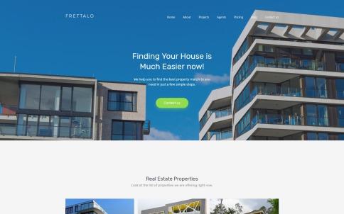 Real Estate Web Design - Frettalo