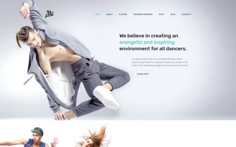 Dance Studio Website Design - MC