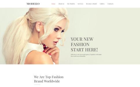 Model Website Design - Modello