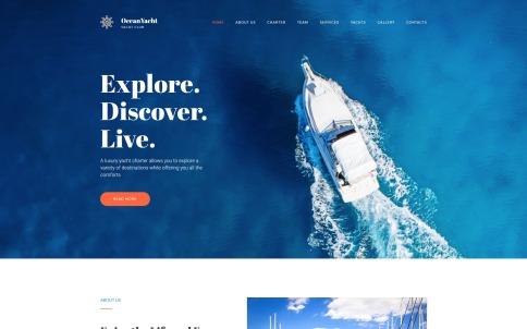 Yacht Website Design - OceanYacht