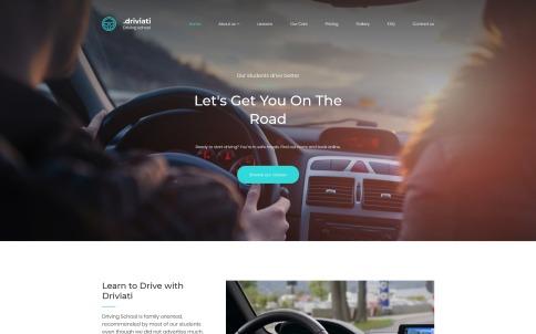 Driving School Website Design - Driviati