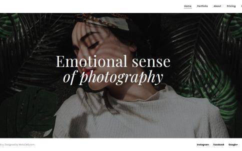 Photography Website Design - Oristi