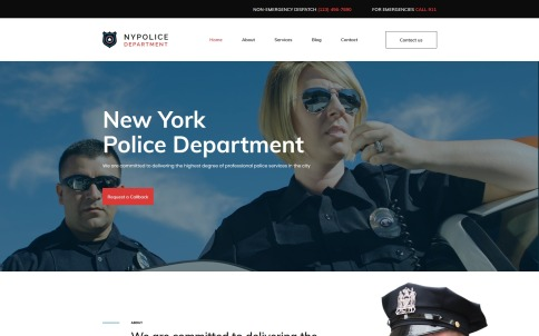Police Department Website Template