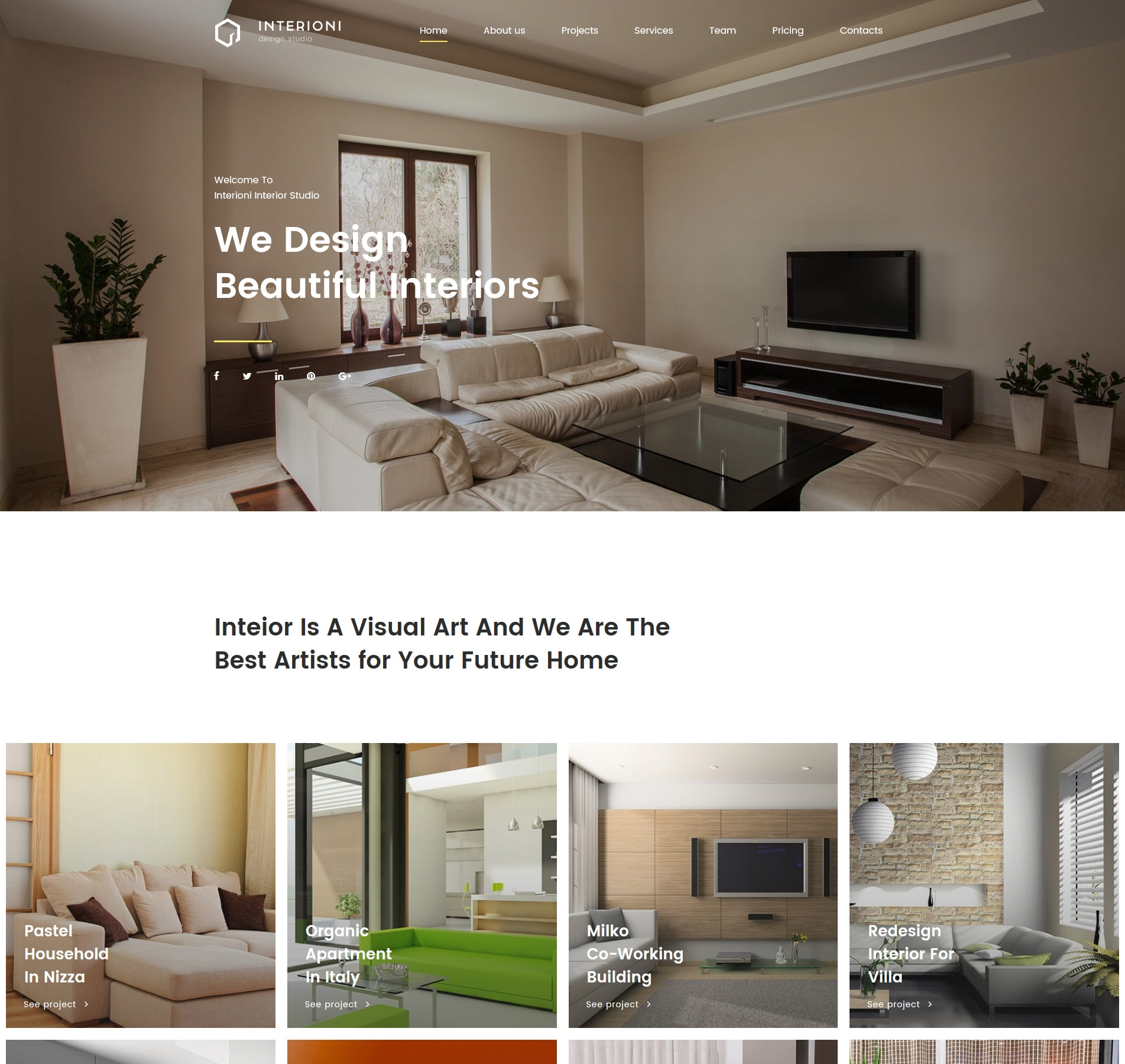 Home Decor Website Design Interioni