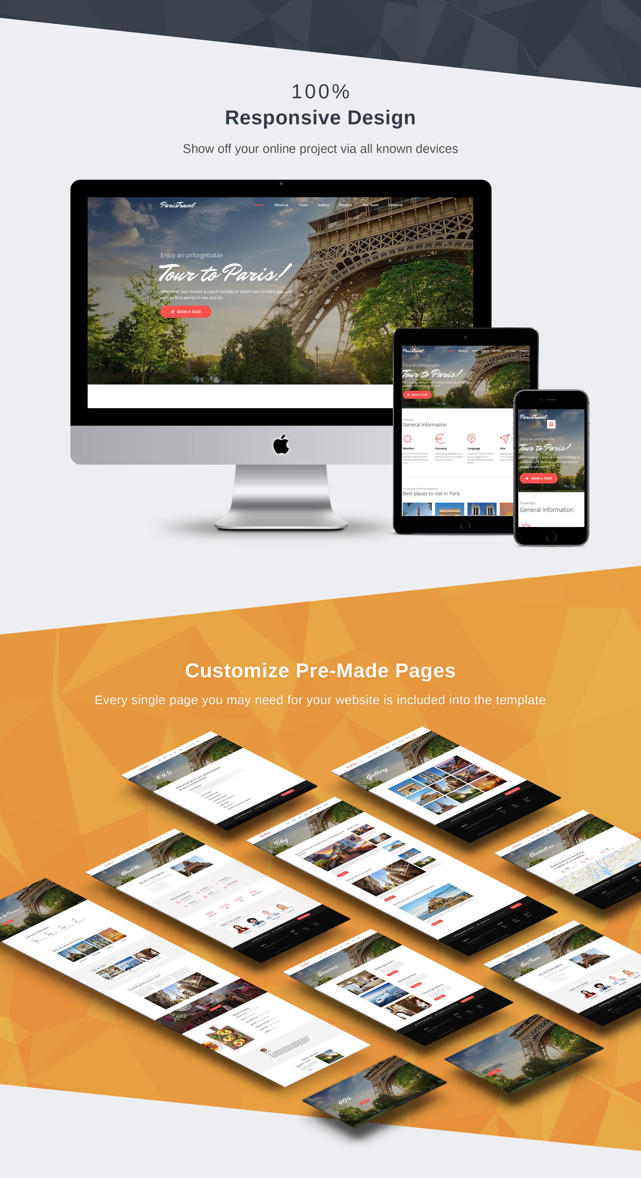 Travel And Tourism Website Design For Travel Agency Motocms