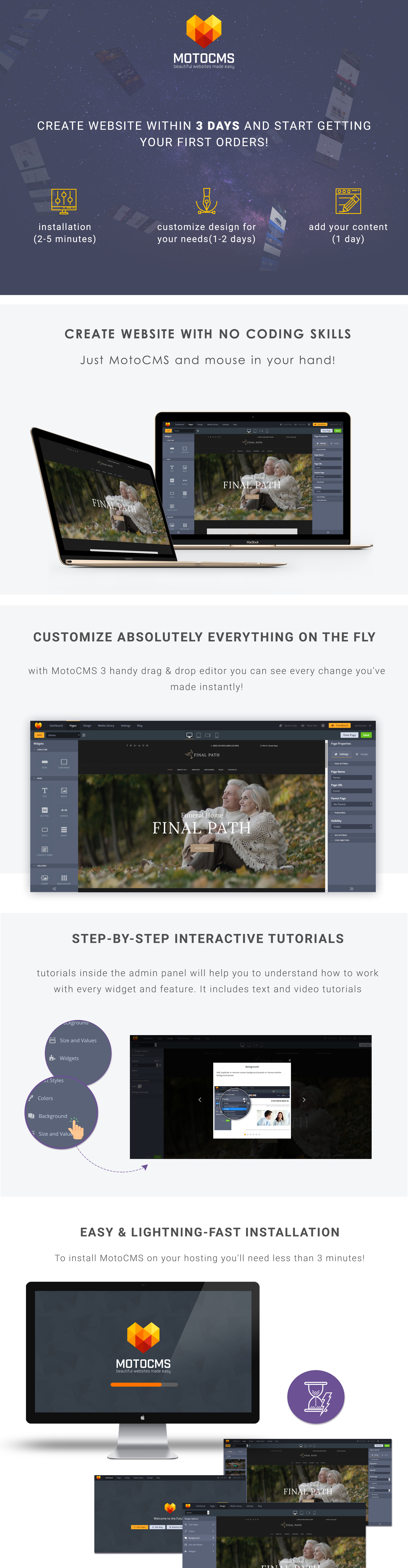 Funeral Home Website Design For Funeral Services Motocms