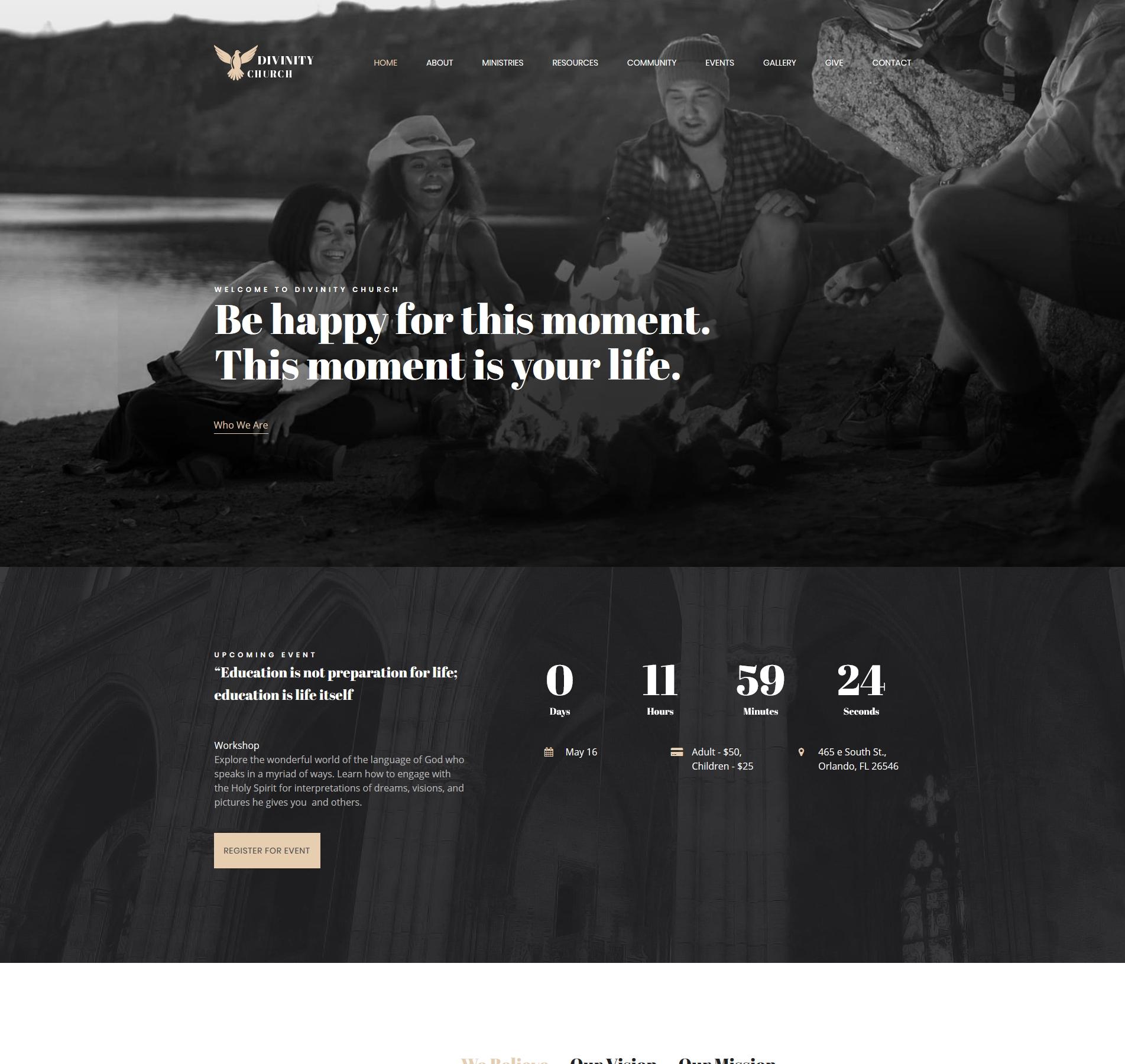 Modern Church Website Design Modernchurch Templatemonster