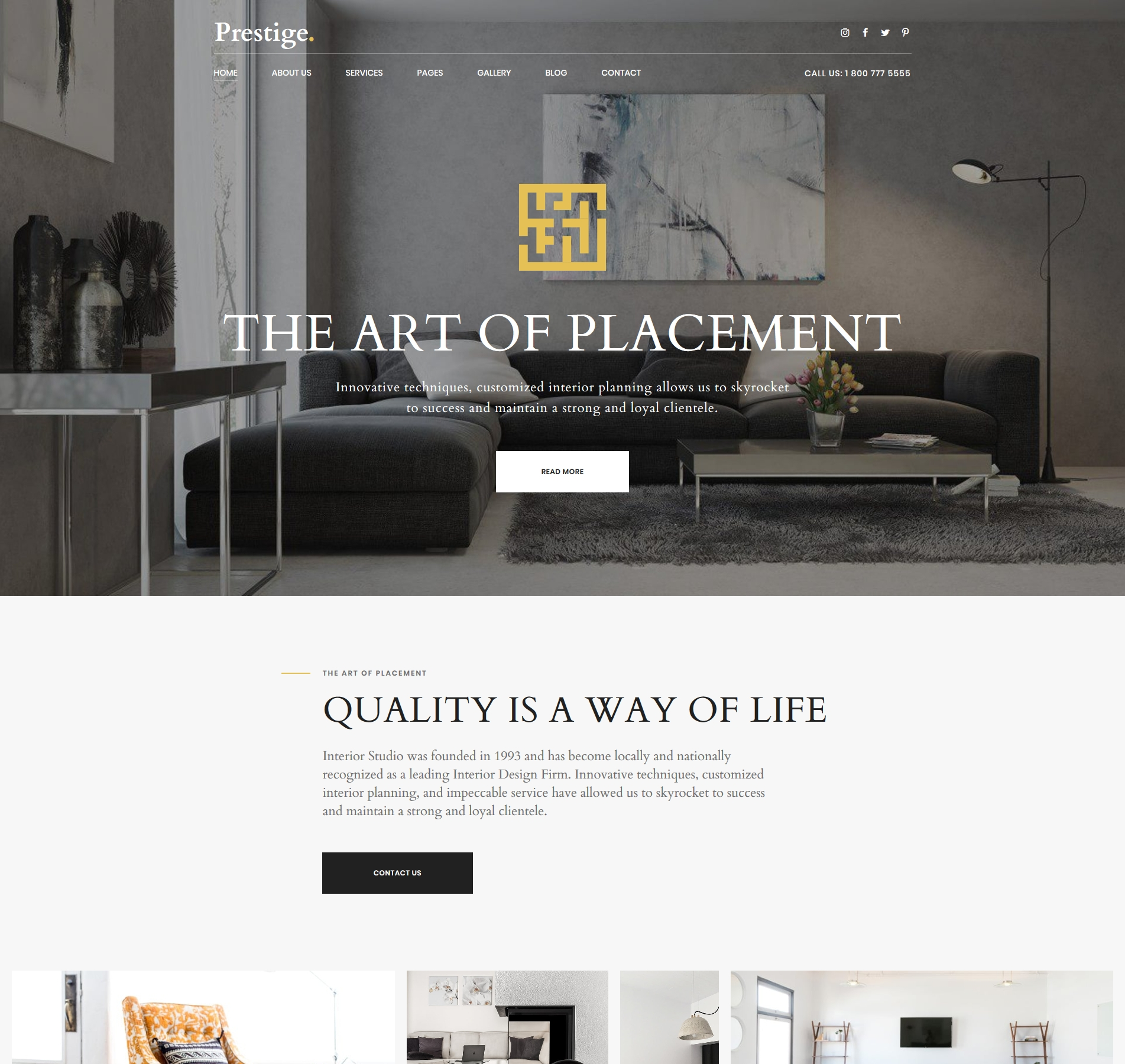 Interior Design Website Template For Studios And Architects Templatemonster