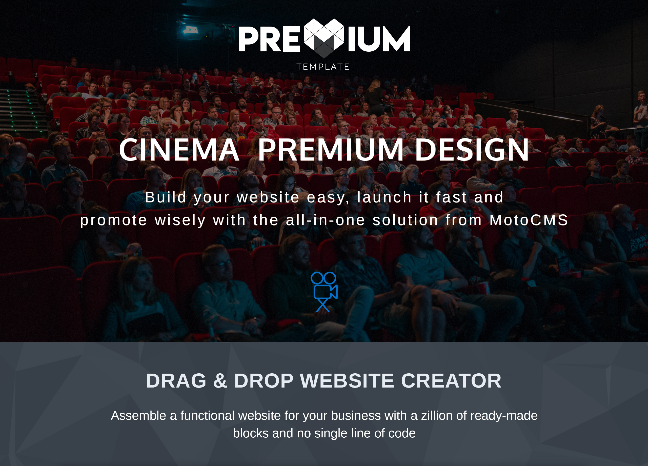 Cinema Website Design for Movie Theater Websites - MotoCMS