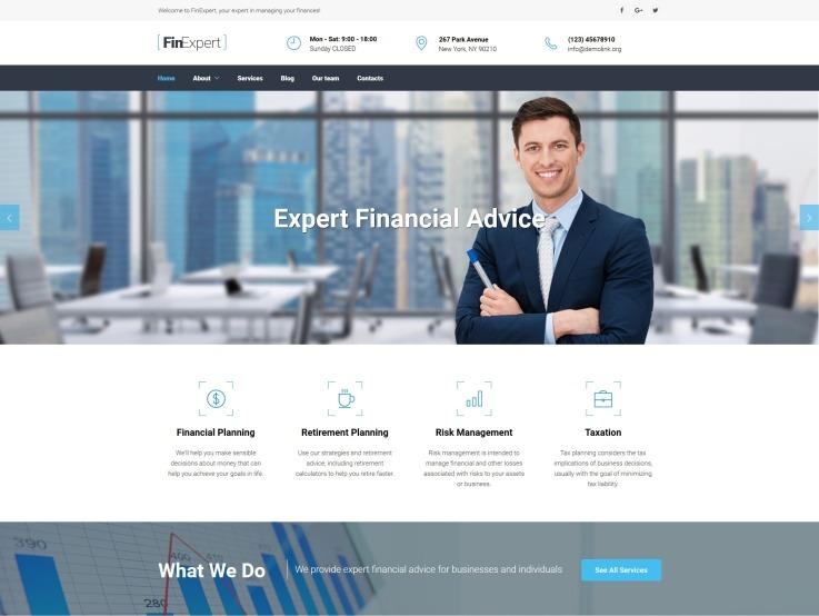 Financial Planner Website Design - FinExpert - main image