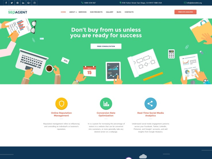 Seo Website Design - SEOAgent - main image