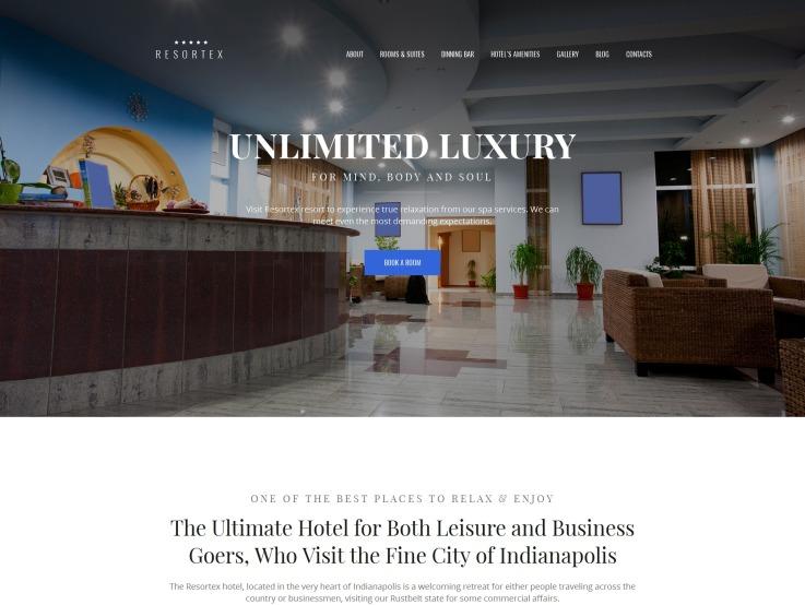 Hotel Website Design - Resortex - main image